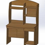 木製テーブル 3d model