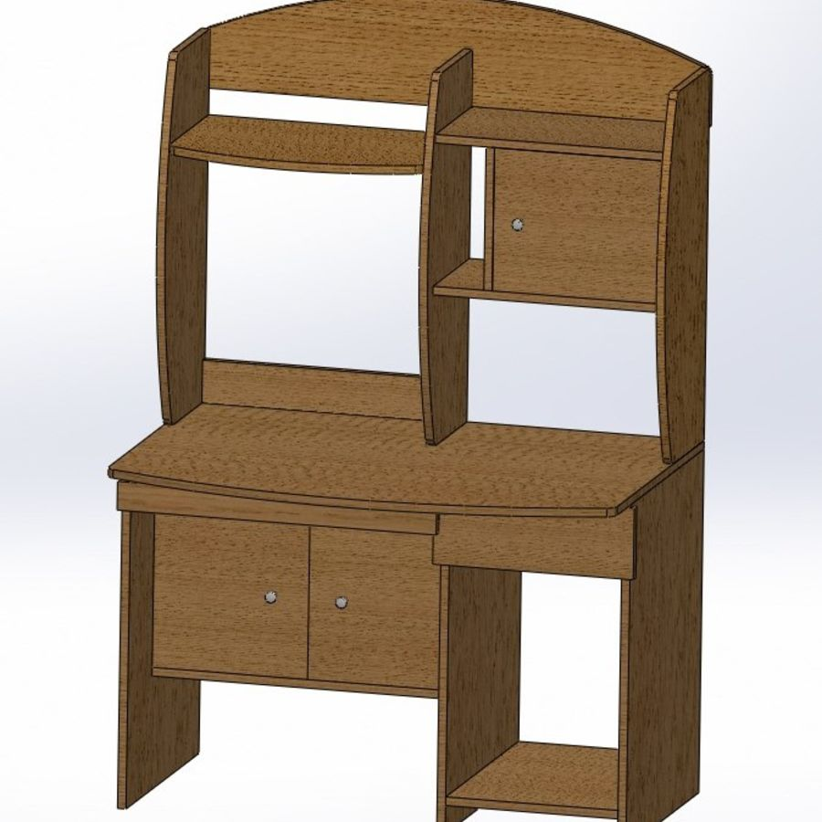 木製テーブル royalty-free 3d model - Preview no. 1