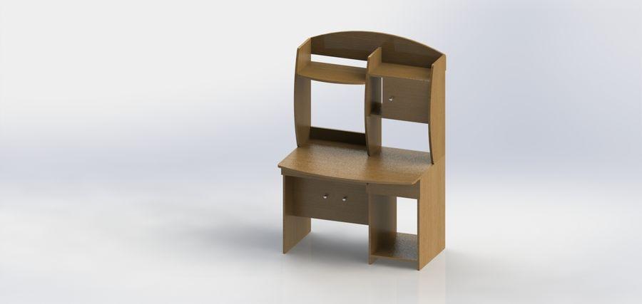 木製テーブル royalty-free 3d model - Preview no. 5