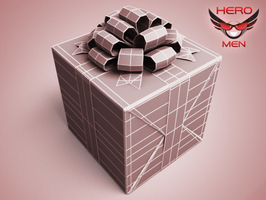 Geschenkbox Rot royalty-free 3d model - Preview no. 5