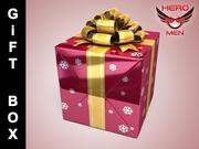Geschenkbox Rot 3d model
