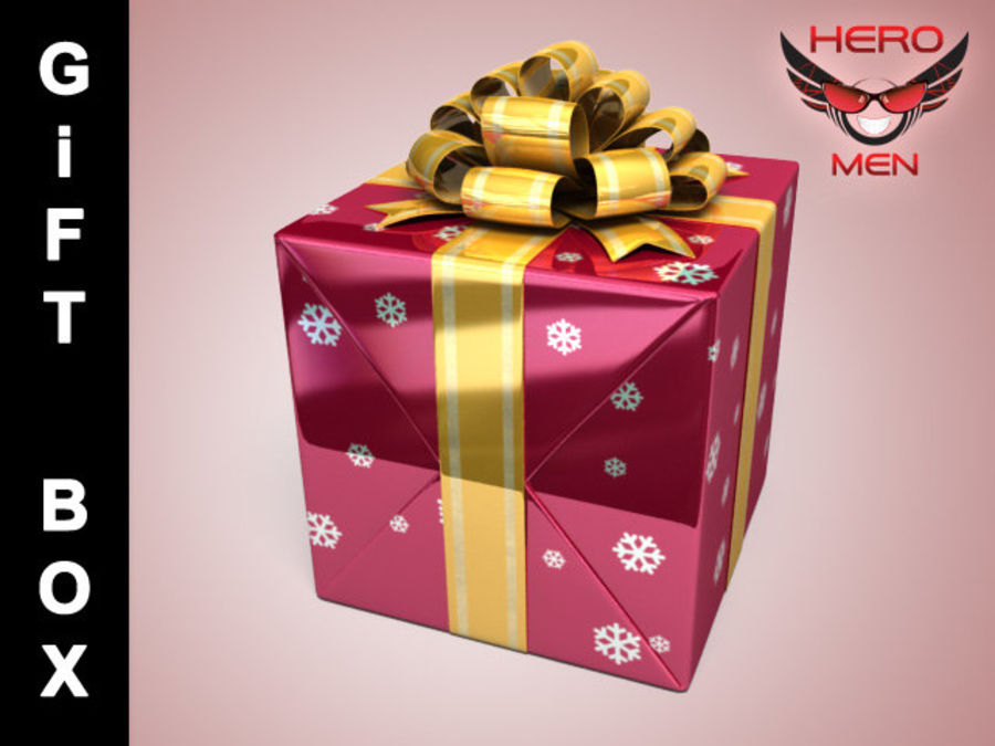 Geschenkbox Rot royalty-free 3d model - Preview no. 1