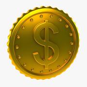 Goldene Münze 3d model