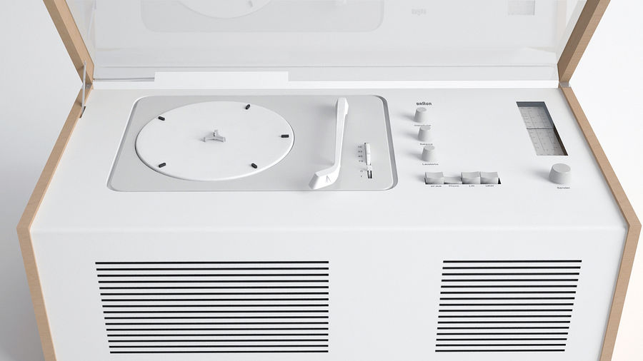 SK5 platenspeler royalty-free 3d model - Preview no. 1