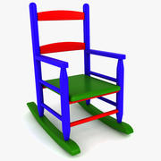 Kids Rocking Chair 3d model