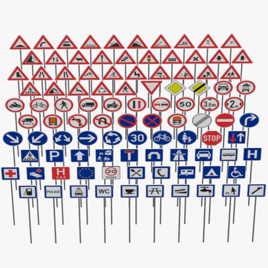 Panneaux de signalisation royalty-free 3d model - Preview no. 1