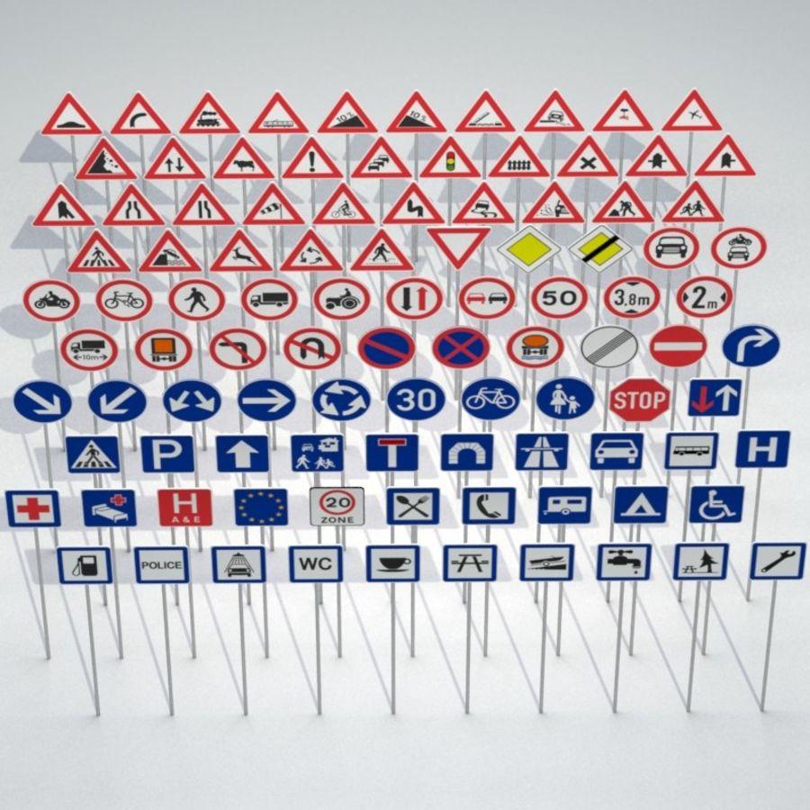 Panneaux de signalisation royalty-free 3d model - Preview no. 2