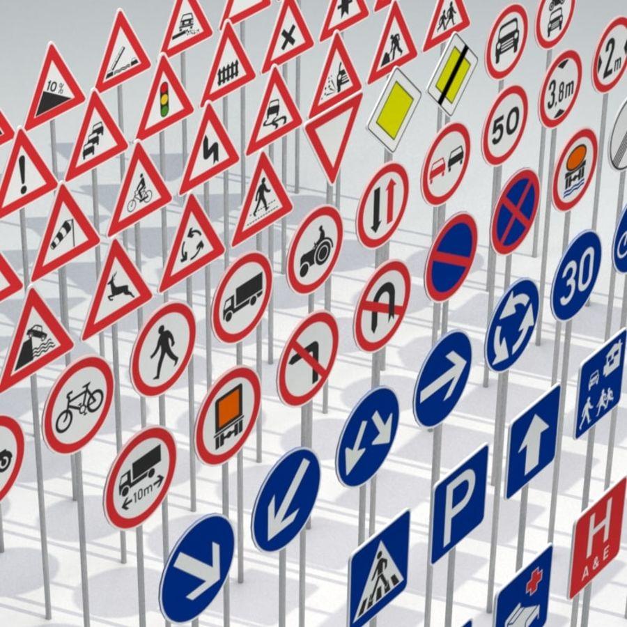 Panneaux de signalisation royalty-free 3d model - Preview no. 4