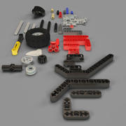 LEGO TECHNIC PIECES 3d model