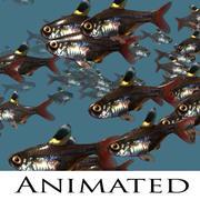 Рыбная школа 3d model