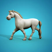 Cartoon Horse 3d model