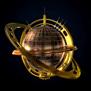 SPHERE AND ANIMATION 3d model