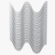 음각 벽 패널 3d model