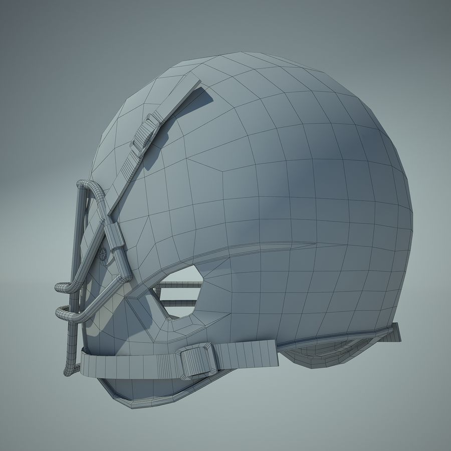 足球头盔01 royalty-free 3d model - Preview no. 6