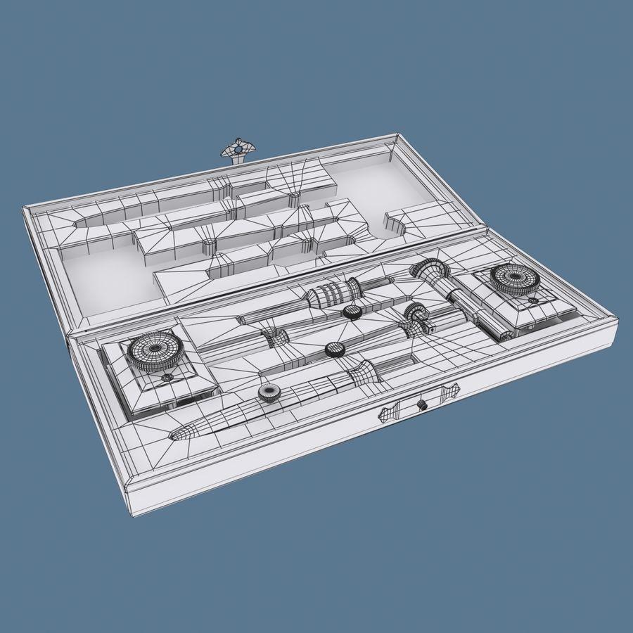 Estuche Compases royalty-free modelo 3d - Preview no. 8
