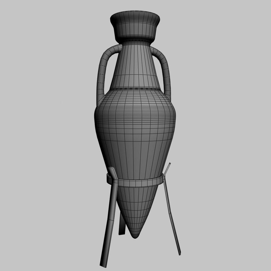 Amphora royalty-free 3d model - Preview no. 6