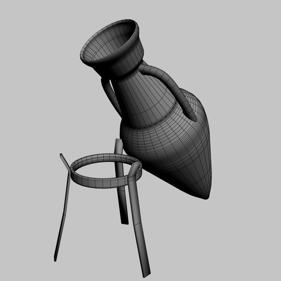 Amphora royalty-free 3d model - Preview no. 7