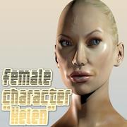 """Żeńska postać """"Helen"""" 3d model"""