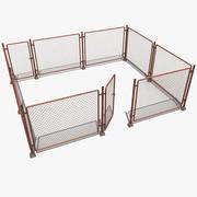 Costruttore recinzione metallica 3d model