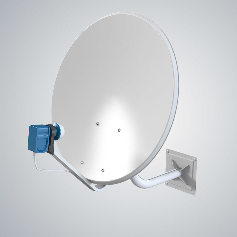 Satellite Antena royalty-free 3d model - Preview no. 2