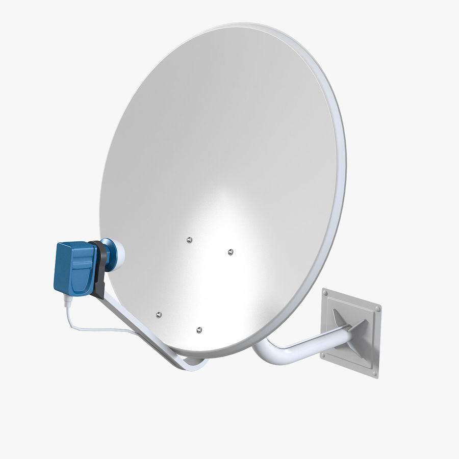 Satellite Antena royalty-free 3d model - Preview no. 1