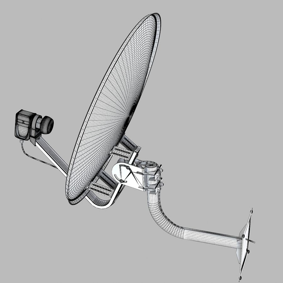Satellite Antena royalty-free 3d model - Preview no. 7