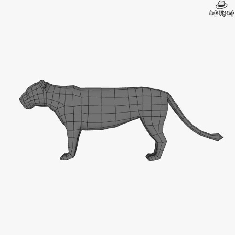 Lion (femmina) royalty-free 3d model - Preview no. 7