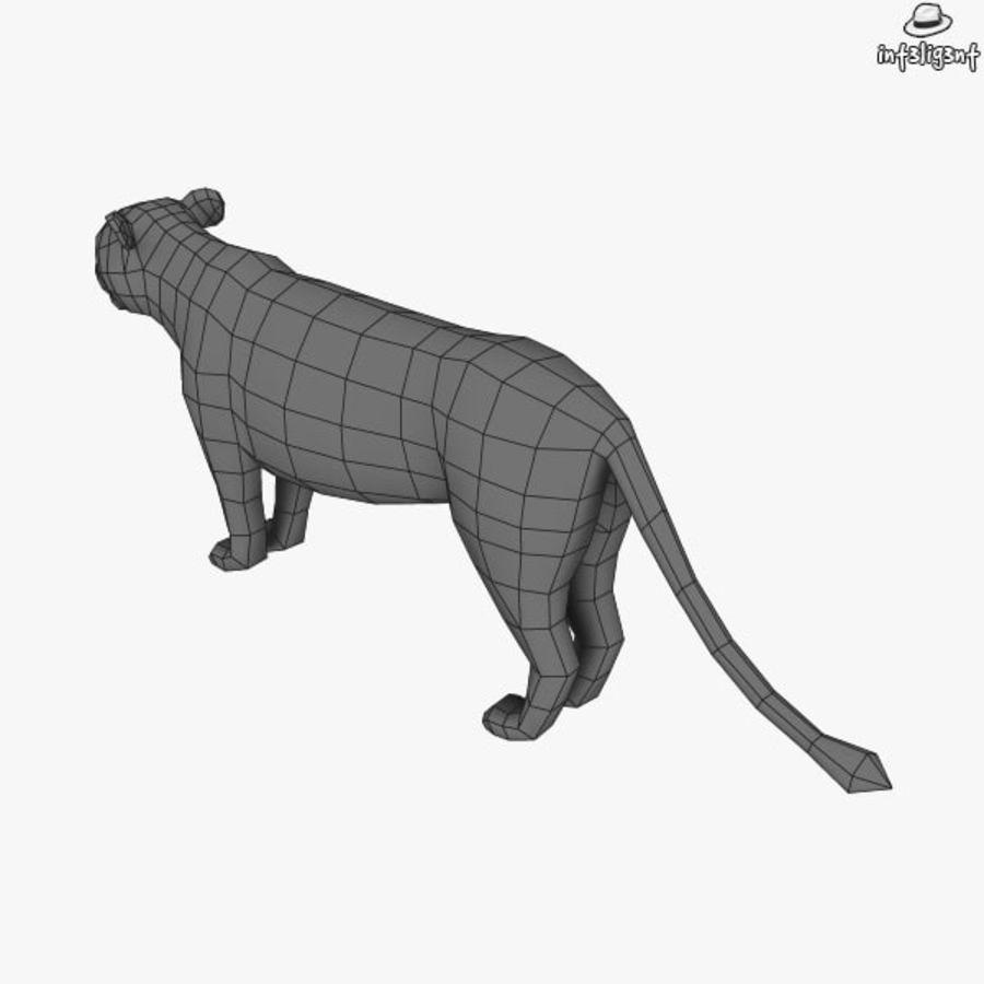 Lion (femmina) royalty-free 3d model - Preview no. 8