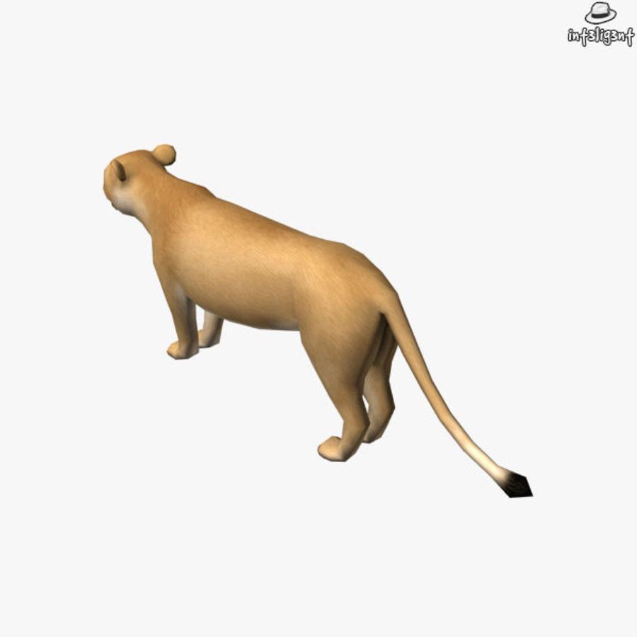Lion (femmina) royalty-free 3d model - Preview no. 5