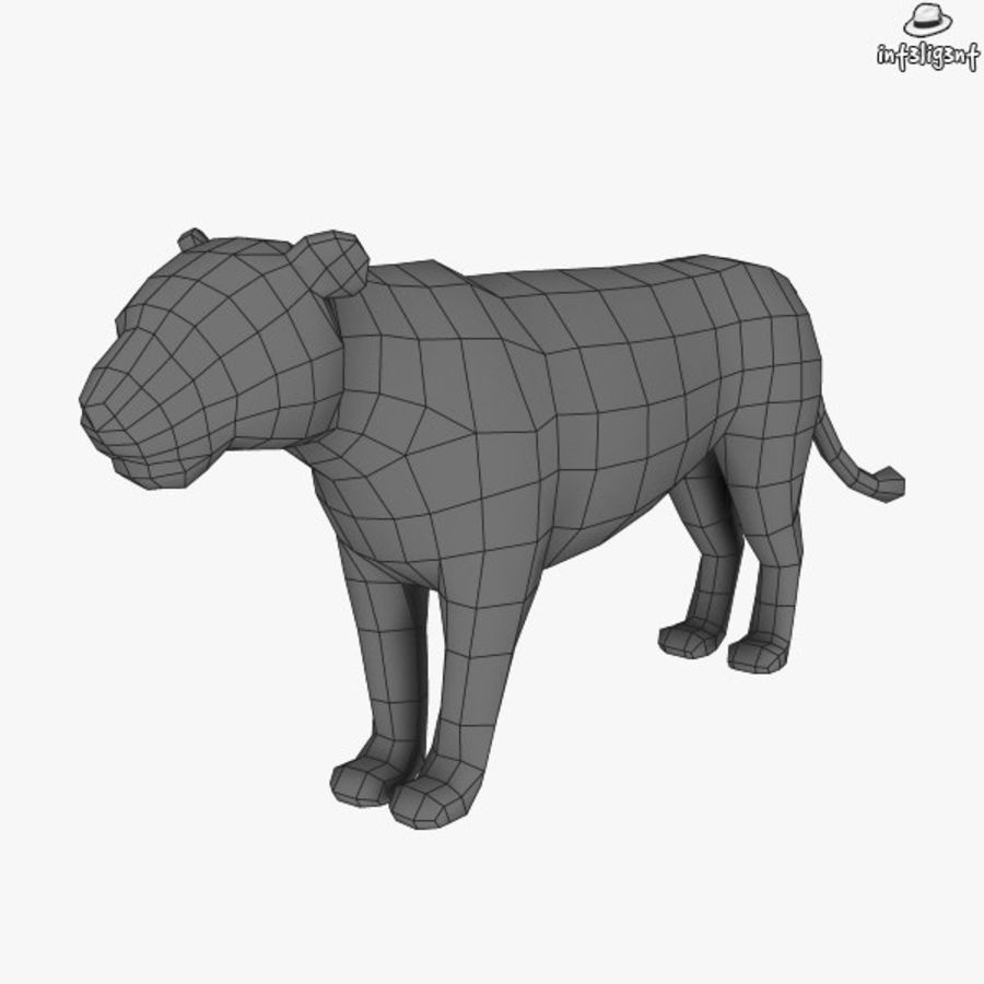 Lion (femmina) royalty-free 3d model - Preview no. 6