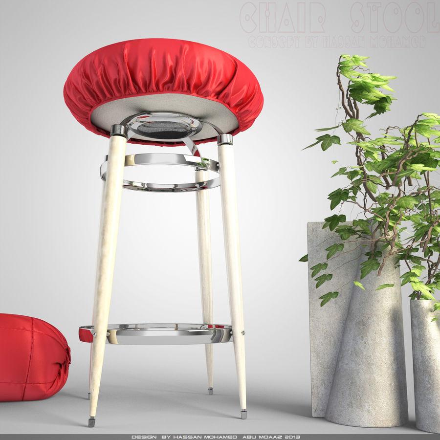 Krzesło Stołek royalty-free 3d model - Preview no. 2