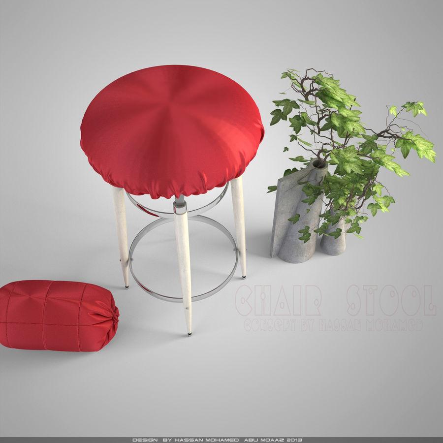 Krzesło Stołek royalty-free 3d model - Preview no. 6