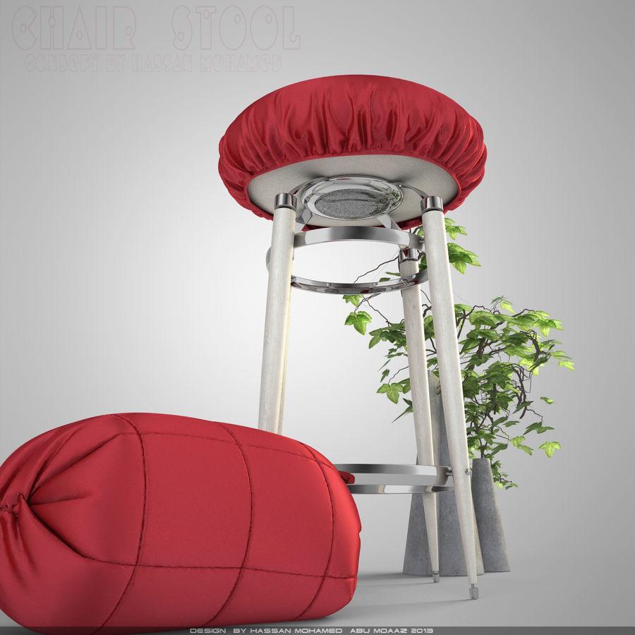 Krzesło Stołek royalty-free 3d model - Preview no. 5