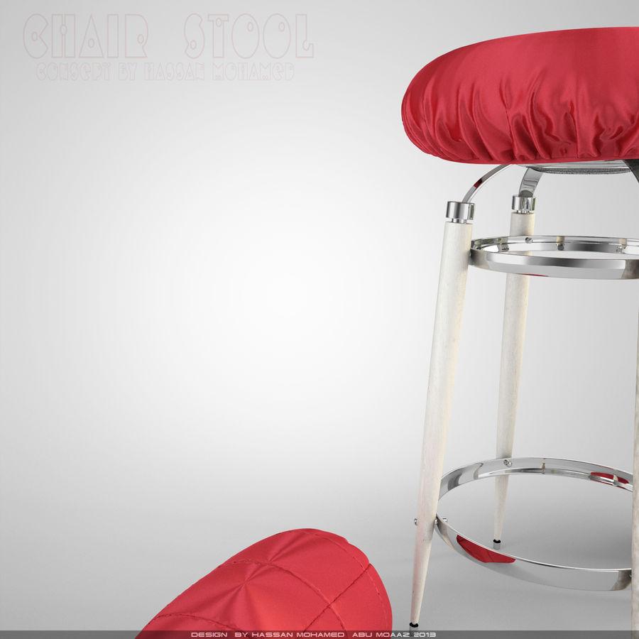 Krzesło Stołek royalty-free 3d model - Preview no. 3