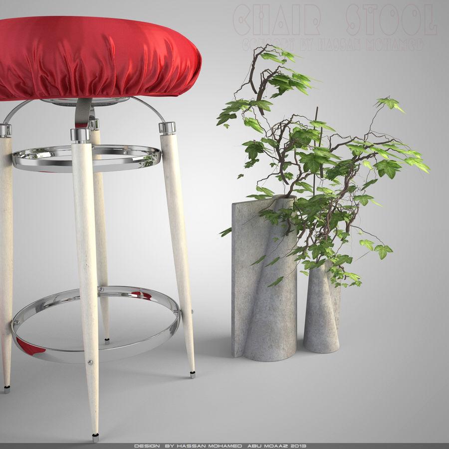 Krzesło Stołek royalty-free 3d model - Preview no. 4