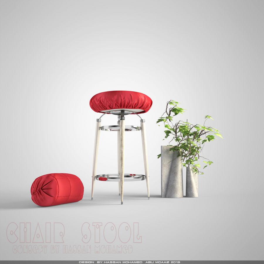 Krzesło Stołek royalty-free 3d model - Preview no. 1