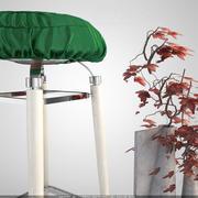 Cadeira de tamborete 3d model