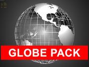 Globe Pack Polygonal 3d model