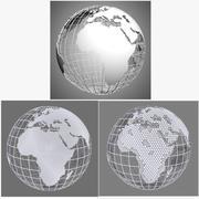 글로브 팩 다각형 3d model