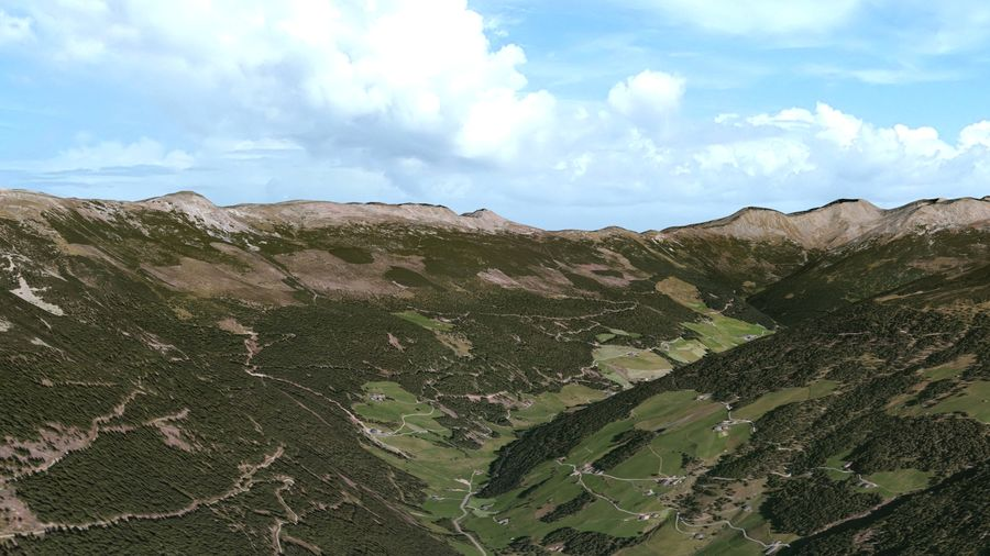 Alpine mountains royalty-free 3d model - Preview no. 1