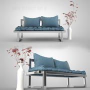Sofa Blanket Set 9 3d model