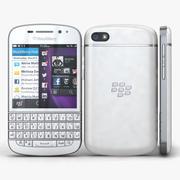 BlackBerry Q10 White 3d model