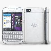 BlackBerry Q10 Branco 3d model