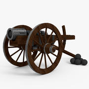Spanish Cannon 3d model