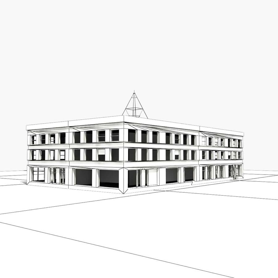 Ruined Building Destroyed royalty-free 3d model - Preview no. 9