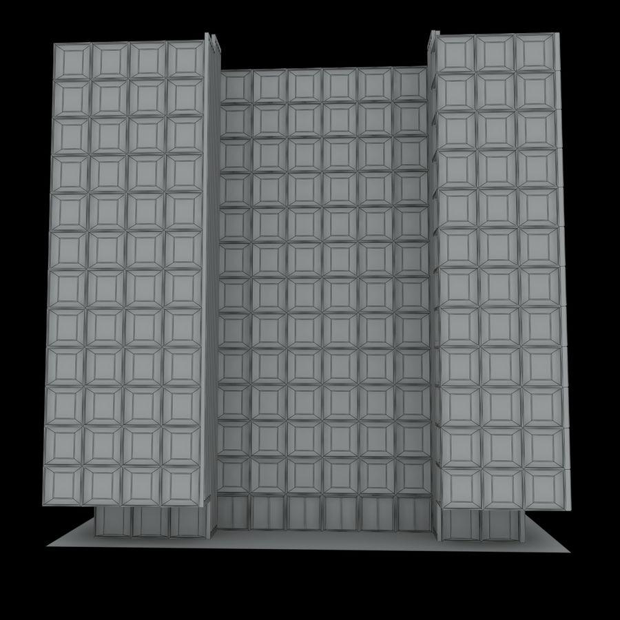 12层建筑 royalty-free 3d model - Preview no. 10