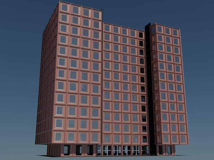 12层建筑 royalty-free 3d model - Preview no. 3