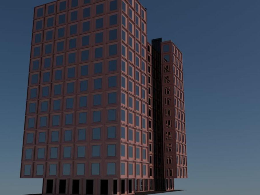 12层建筑 royalty-free 3d model - Preview no. 4