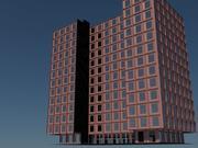 12 этажное здание 3d model