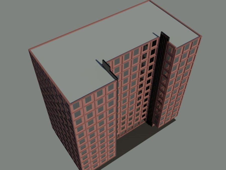 12层建筑 royalty-free 3d model - Preview no. 9